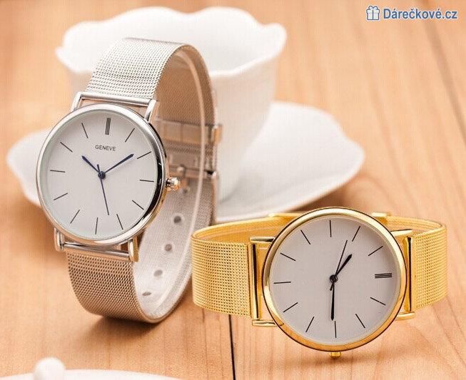 Dámské elegantní analogové hodinky s páskem z nerezové oceli 76ce9d0dce