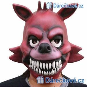 Latexová maska Liška Foxy hry ze Five Nights at Freddy's (karnevalový kostým)