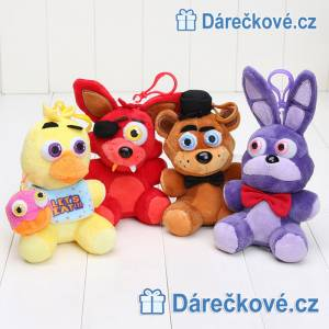 Set čtyř plyšáků ze hry Five Nights at Freddy's, vel. 14cm