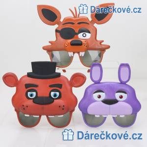 Brýle ze hry Five Nights at Freddy's (karnevalová maska)